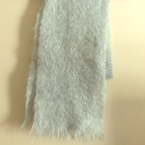 Pale Blue Authentic Irish Mohair & Wool Scarf